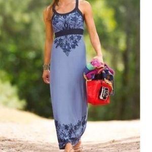 Atleta Rio Printed Purple Racerback Maxi Dress